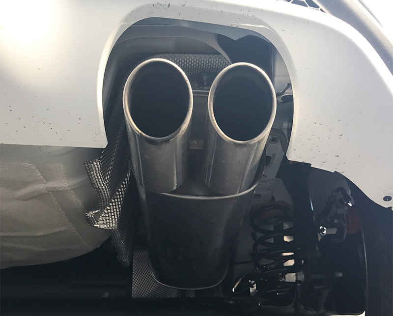 Check the part of your exhaust which is visible at the rear of the vehicle