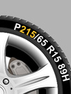 An example of how to read your tyre profile from Setyres