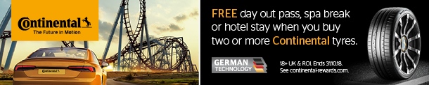 Continental. FREE day out pass, spa break or hotel stay when you buy two or more Continental tyres.