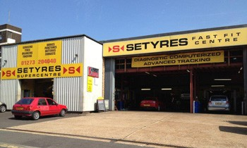 Setyres Brighton & Hove East Sussex offer tyres, servicing, brakes, air conditioning, shocks, exhausts, batteries, major repairs, diagnostics and tracking