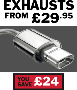 Buy cheap car exhausts from £29.95 at Setyres and save £24