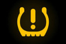 If your tyre loses pressure on the road this light may illuminate on your vehicle dashboard